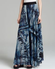 Jean Paul Gaultier Skirt - Ship Print Maxi