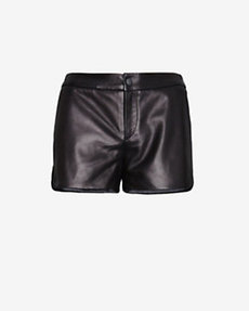 rag & bone EXCLUSIVE Jess Trimmed Hem Leather Shorts