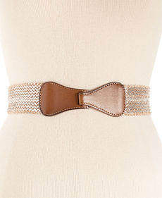 Steve Madden Metallic Stretch Belt