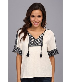 Lucky Brand Ipanema Embroidered Top