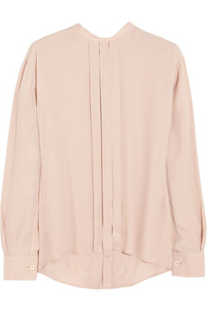 Marni Pleated crepe de chine top
