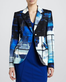Escada Abstract-Print Blazer