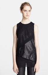 Robert Rodriguez Lace Overlay Illusion Top
