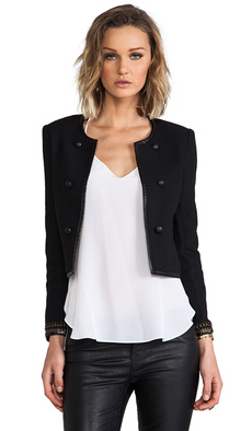 Joie Basket Weave Damaris Jacket in Black
