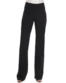 Pull-On Wide-Leg Trousers   Pull-On Wide-Leg Trousers