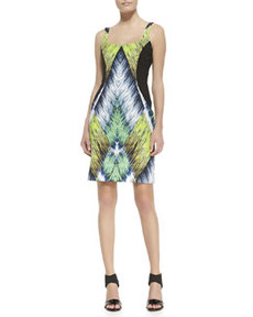 Printed Side-Panel Knit Dress   Printed Side-Panel Knit Dress