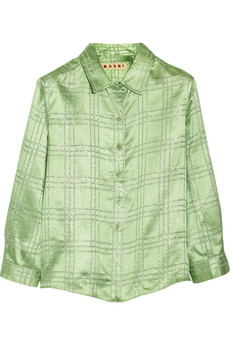 Marni Checked metallic jacquard shirt