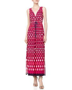 Laundry By Design Geometric-Print Maxi Dress, Magenta