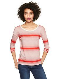 Variegated-stripe tee