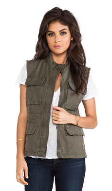 Sanctuary Field Vest in Olive