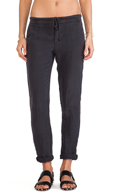 James Perse Linen Chino Pant in Charcoal