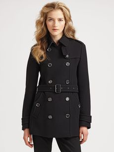 Burberry Brit Double-Breasted Belted Coat