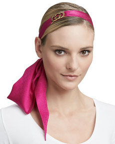 Necktie/Head Bow with Clasp, Magenta   Necktie/Head Bow with Clasp, Magenta