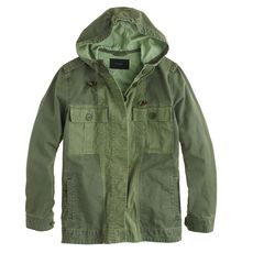 Hooded fatigue jacket