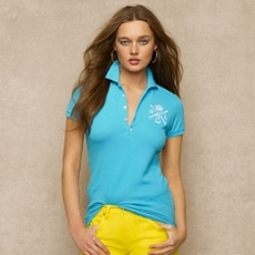 Stretch-Pima-Cotton Crest Polo