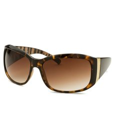 Kenneth Cole Reaction Women's Rectangle Havana Sunglasses