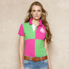 Skinny-Fit Color-Blocked Polo