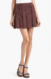 MARC JACOBS Pleated Silk Crepe Miniskirt
