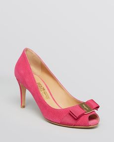 Salvatore Ferragamo Peep Toe Pumps - Pola