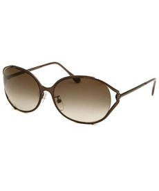 Fendi Women's Oval Shinny Brown Sunglasses