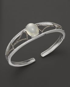 Badgley Mischka Grey Moonstone And Diamond Cuff