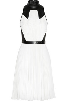 Jason Wu Georgette and leather dress