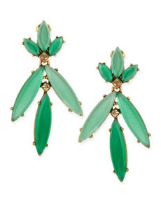 Leafy Chandelier Clip-On Earrings, Aqua Sorbet   Leafy Chandelier Clip-On Earrings, Aqua Sorbet