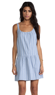 Soft Joie Pedaru Drop Waist Dress in Blue