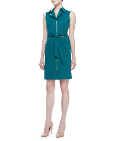 Lafayette 148 New York Starla Sleeveless Belted Dress