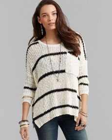 Free People Pullover - Greenwich Village Stripe