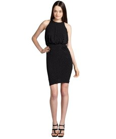 Cynthia Steffe black and silver dotted 'Mariah' stretch jersey knit dress