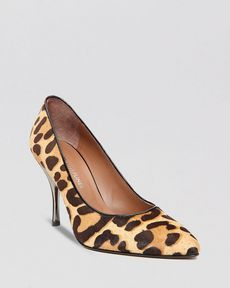 Donald J Pliner Pointed Toe Pumps - Brave Leopard High Heel
