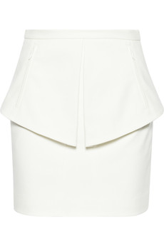 Tibi City cotton-blend twill peplum skirt