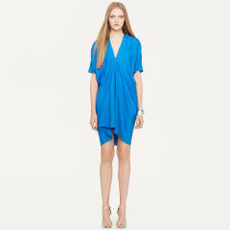 Silk V-Neck Alfia Dress