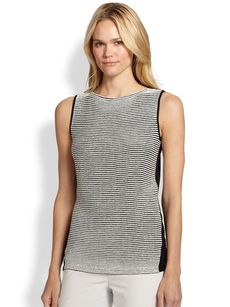 Lafayette 148 New York Cable-Stitch Sweater Tank