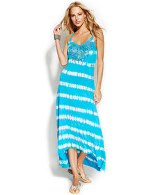 INC International Concepts Tie-Dye Sequined Maxi Dress