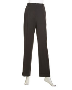 Lafayette 148 New York Harrison High-Waist Cuffed Pants, Ash