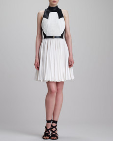 Jason Wu Pleated T-Back Combo Dress