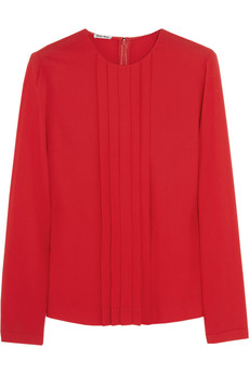 Miu Miu Pleated crepe top