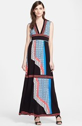 Tracy Reese Reversible Print Jersey Maxi Dress
