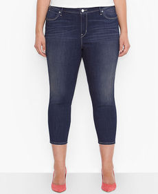 Levi's® Plus Size Mid-Rise Cropped Jeans, Origin Wash