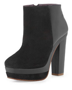 Kooba Vienna Suede/Leather Bootie, Black