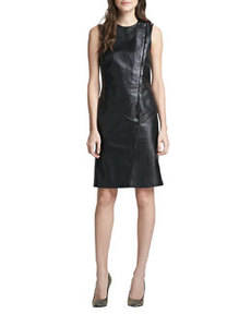 Kuval Sleeveless Leather Dress   Kuval Sleeveless Leather Dress
