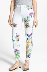 Hue 'Floral Vines' Denim Leggings