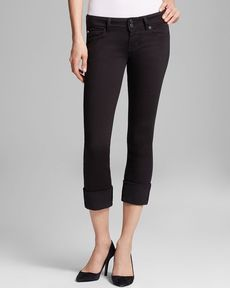 Hudson Jeans - Ginny Crop Straight Cuffed in Black