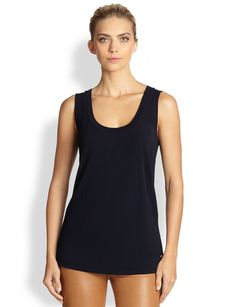 Escada Sleeveless Jersey Tank
