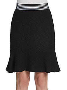 Saks Fifth Avenue BLACK Pebble Crepe Knit Skirt