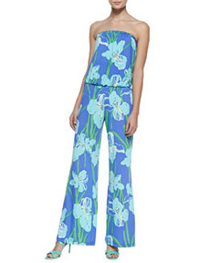 Lilly Pulitzer Kourtney Floral-Print Strapless Jumpsuit