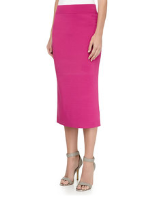 Michael Kors Over-the-Knee Tube Skirt, Peony