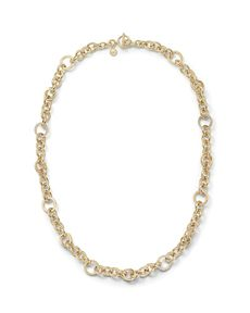 Michael Kors Pave Ring Link Necklace, 28""